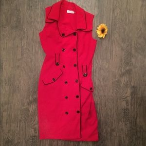 Calvin Klein Red Business suit dress size 2